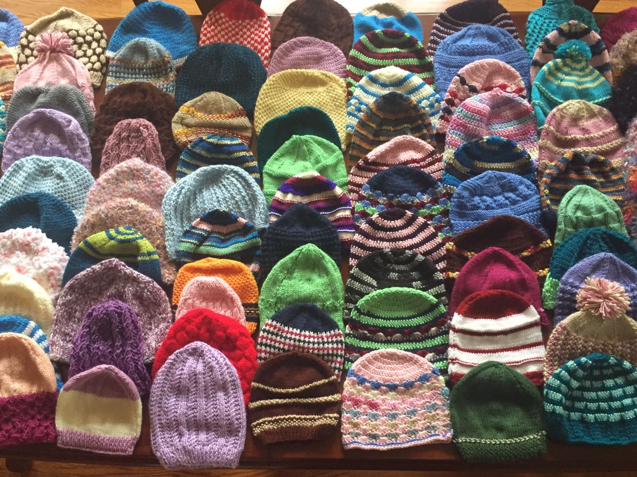 Spread warmth with hand-knit Chemo Caps and Blankets made with 100 % acrylic yarn